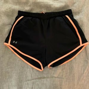 Black Under Armour Running Shorts, Small